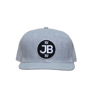 JB Round Logo on Heather Snapback