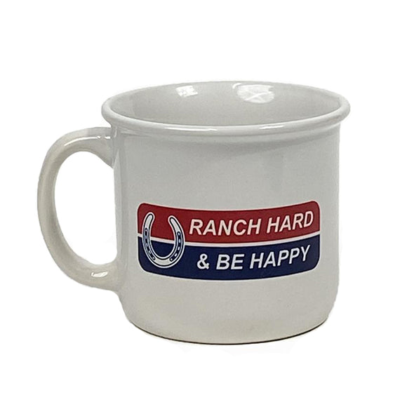 Ranch Hard Be Happy Campfire Mug