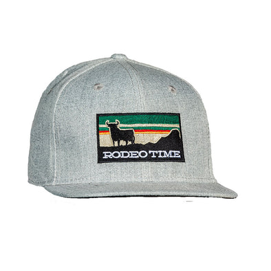 Rodeo Time Sunset Heather Grey Flatbill