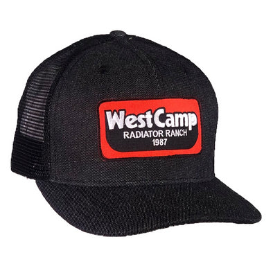 *NEW* West Camp Black Denim Mesh Precurved