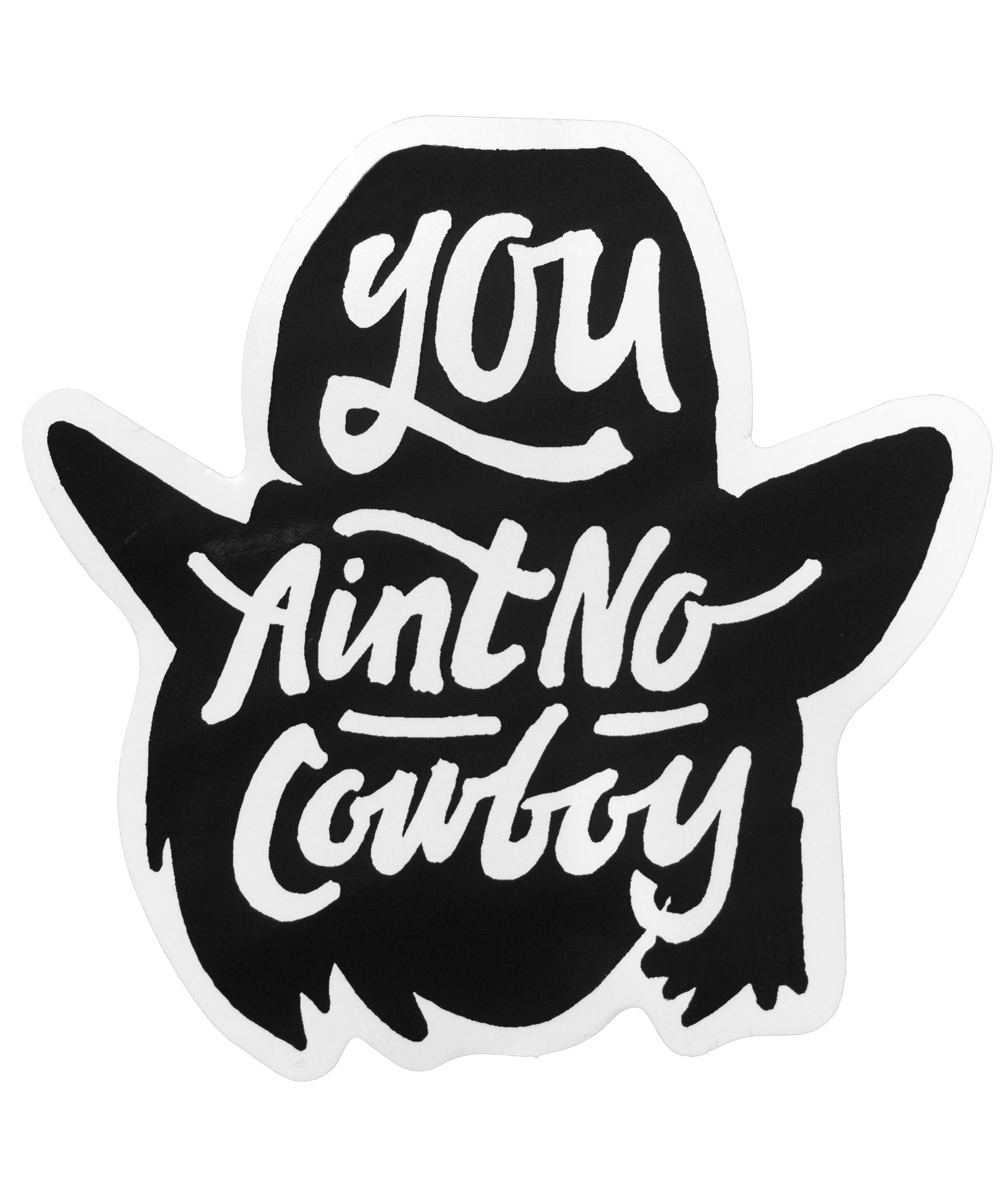 You Ain T No Cowboy Decal Dale Brisby S Rodeo Time