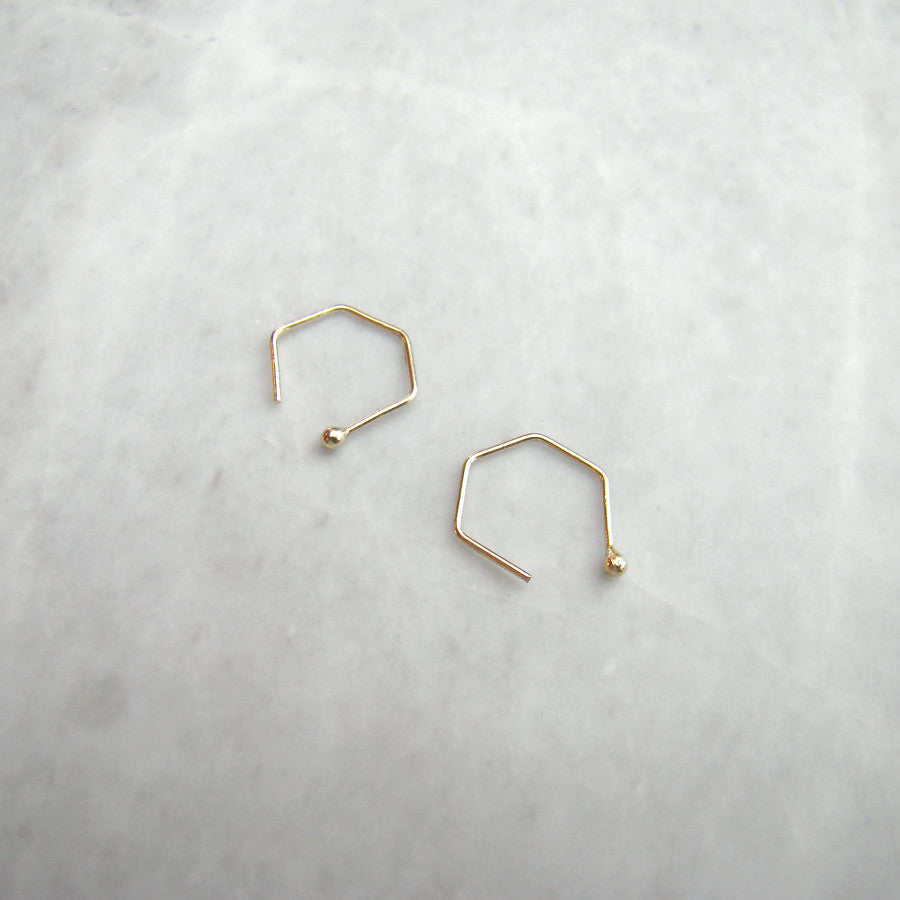 10k yellow gold open hoops