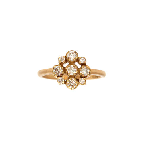Marie Cluster White Diamond Ring