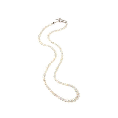 Cultured Pearl Necklace SS Hand Clasp