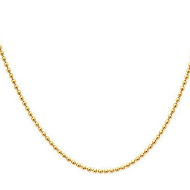 Ball Chain 14k Rose Gold 1.1mm Necklace