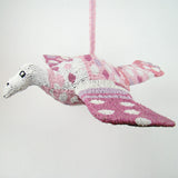 MonkeyBiz Lg Flying Pink & White Bird