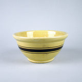 Yellow Ware Mixing Bowl Vintage Brown Stripe