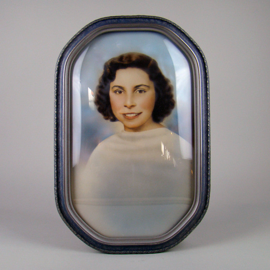 Bubble Glass Portrait of a Lady Vintage