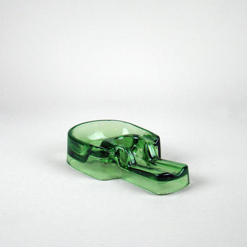 Houze Glass Co. Vaseline Glass Pipe Ashtray