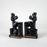 Japanese Red Ware Poodle Bookends 4