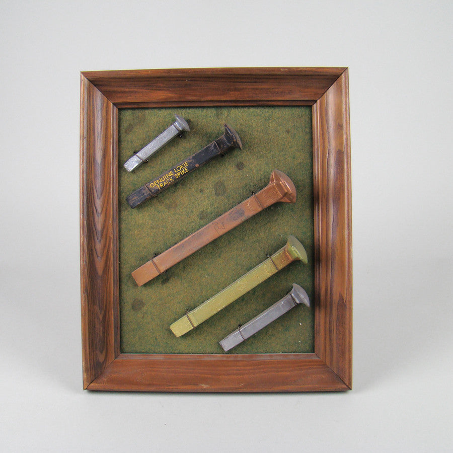Rail Road Spike Shadow Box Display
