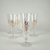 Set/6 Gilt Wheat Pilser Glasses