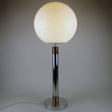 Chrome & Brass Early Globe Lamp Robert Sonneman