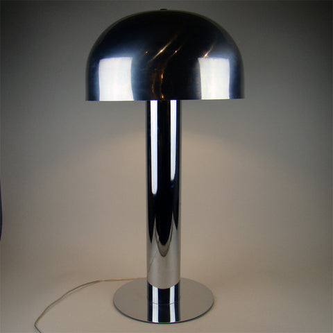Chrome Mushroom Table Lamp Robert Sonneman