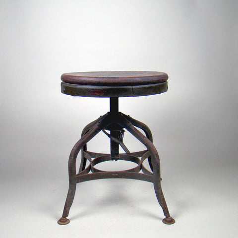 Industrial Toledo Drafting Stool Vintage