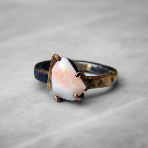 14-24K/Sterling Large Opal Ring