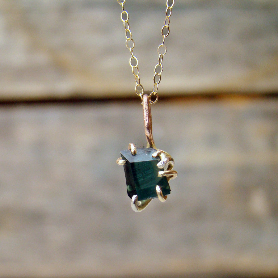 Tourmaline Pendant with 14k Chain