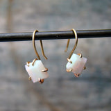 14K Opal Hook Earrings