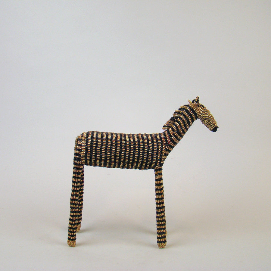 MonkeyBiz 005 Large Black & Gold Stripe Zebra