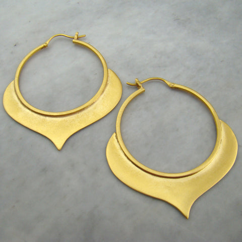 Large Alhambra Hoop Gold Plated Earrings