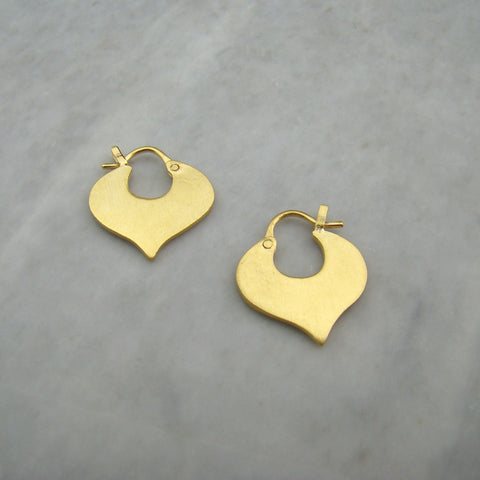 Small Alhambra Hoop Gold Plated Earrings