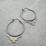 Southwestern Hoop Sterling Silver Earrings