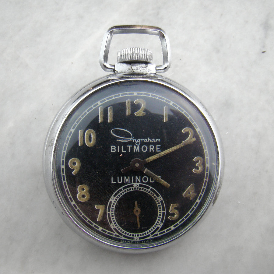 Vintage Biltmore Luminous Pocket Watch