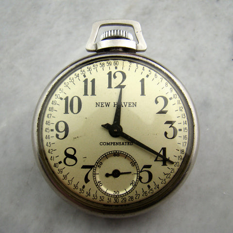 Vintage New Haven Pocket Watch