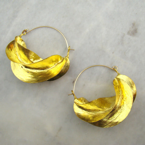 Fulani Earrings Brass Size 4 Lg