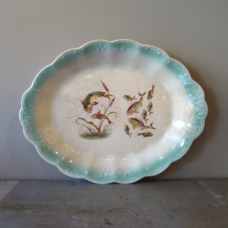 Antique Oval Fish Platter