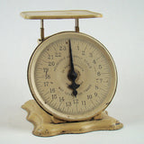 Vintage Yellow Home Scale