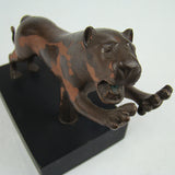 Vintage Big Cat Sculpture
