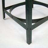 Vintage Industrial Stool Small Green