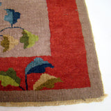 Woven French Deco Wool Rug c. 1930