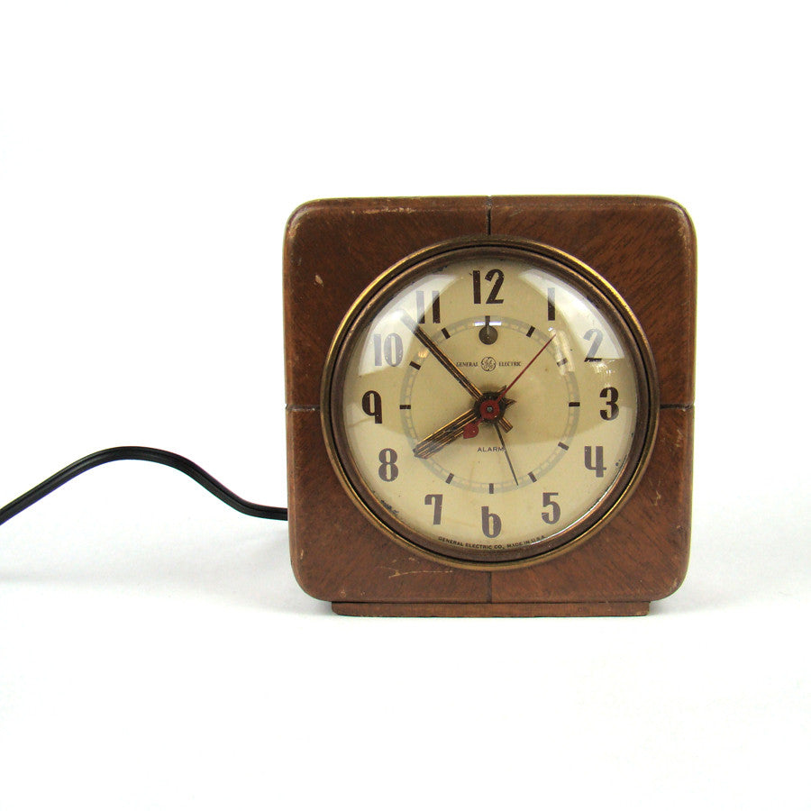 General Electric Wood Case Clock
