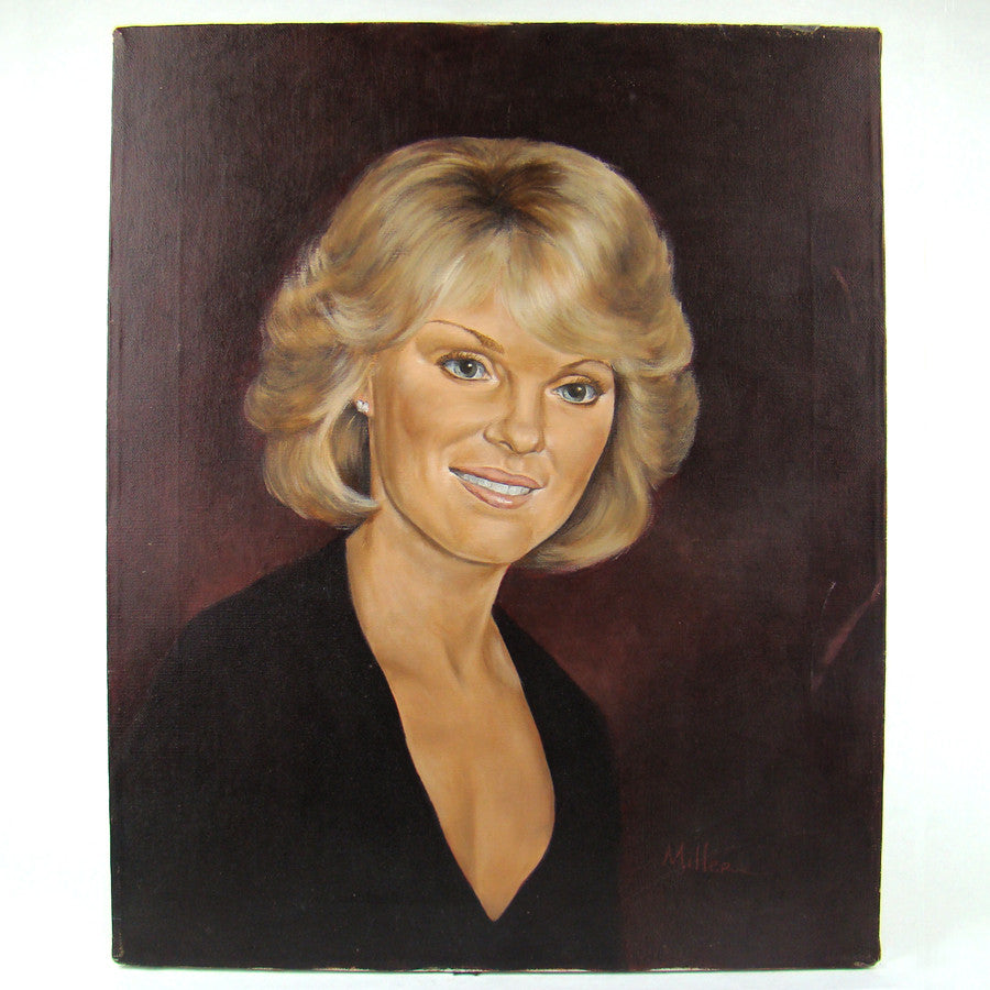Lovely Blonde Lady Oil Painting