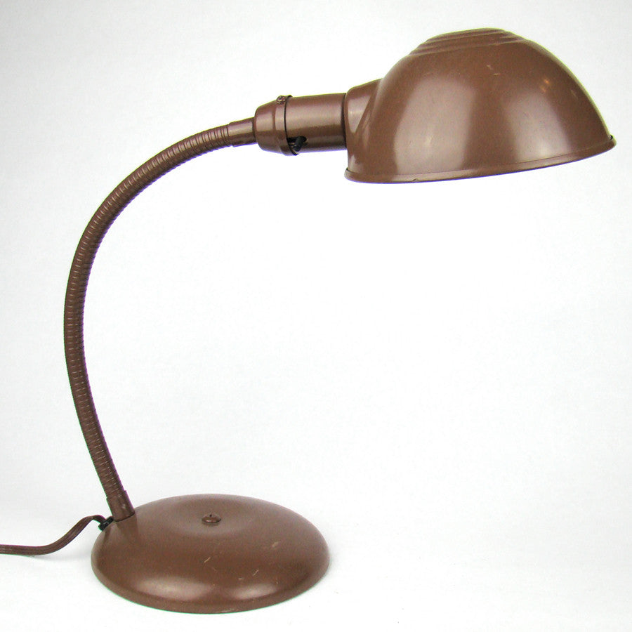Brown Painted Gooseneck Lamp