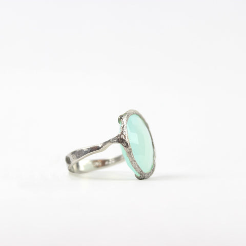 Peruvian Calcite Ring Silver