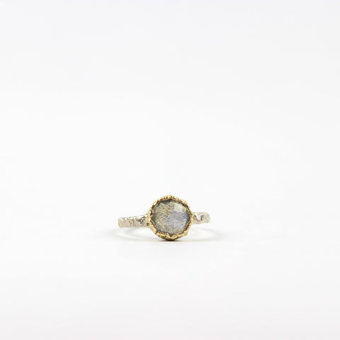 14K Lace Labradorite, Diamond Ring