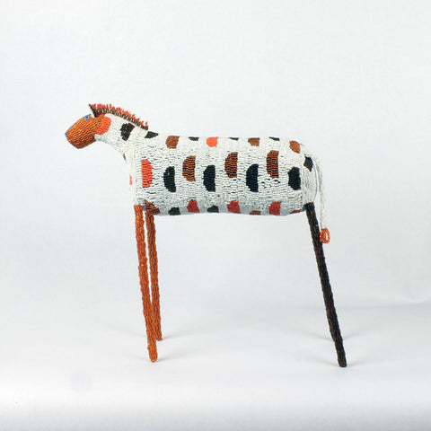 MonkeyBiz XXL Animal 007 Orange & Brown Polka Dot Zebra