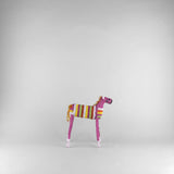 MonkeyBiz 004 Pink Multi Striped White Eared Zebra