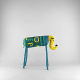 MonkeyBiz 006 Blue & Green with Yellow Trunk Lettered Elephant