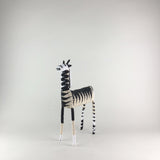 MonkeyBiz 005 Cream Black & White Zig Zag Giraffe