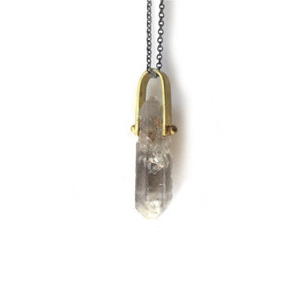 Quartz U-Bar Necklace
