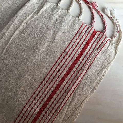 Red Stripe Handwoven Towel