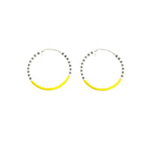 Small Hoop EarringsGF White, Grey & Yellow