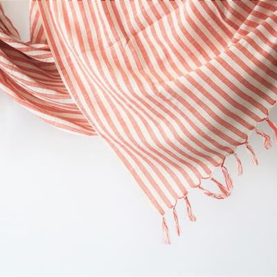 Coral Handwoven Towel