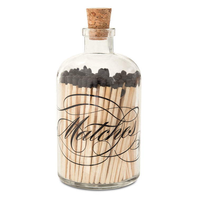 Lg Calligraphy Apothecary Match Bottle
