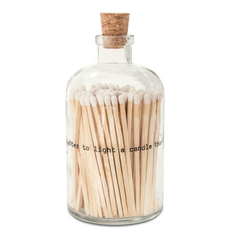 Lg Poetry Apothecary Match Bottle