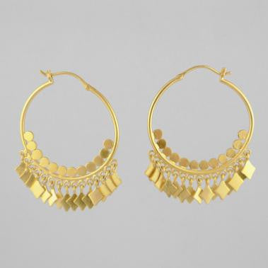 Pan Ethnic Princess Hoops Gold Plate